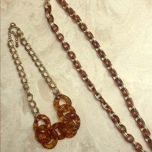 Lot Tortoise Shell Necklaces